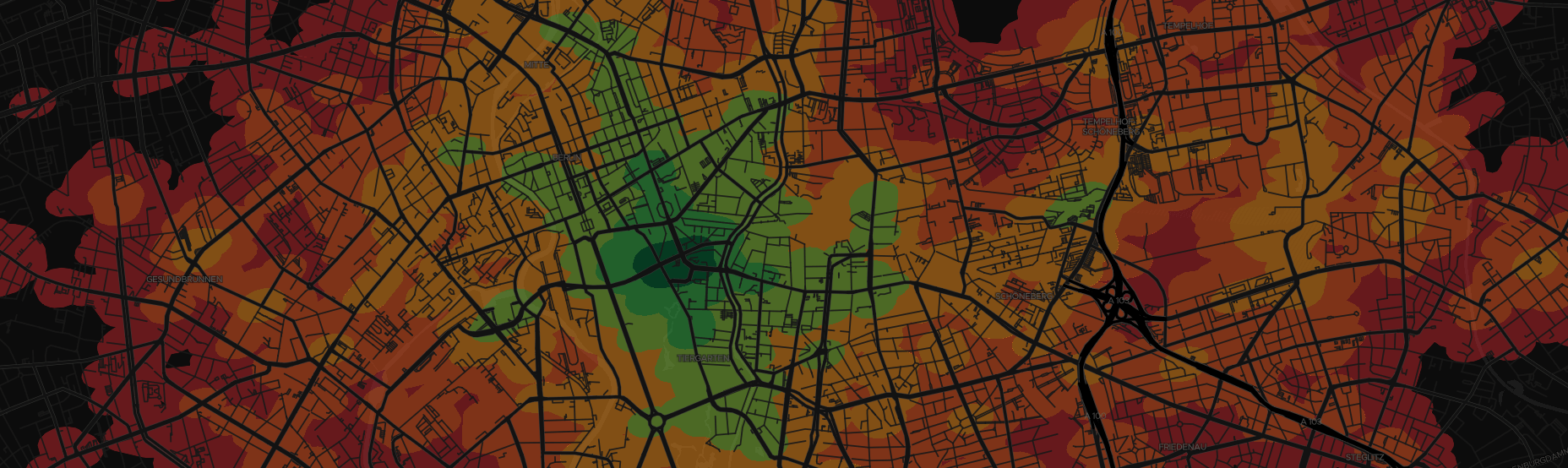 Isochrone display in MapboxGL